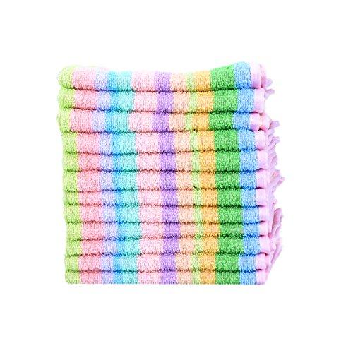 "Scrubbing Dishcloth 100 Square Kitchen Dish Cloth Cotton Terry Towel 12""x12 12pcs"