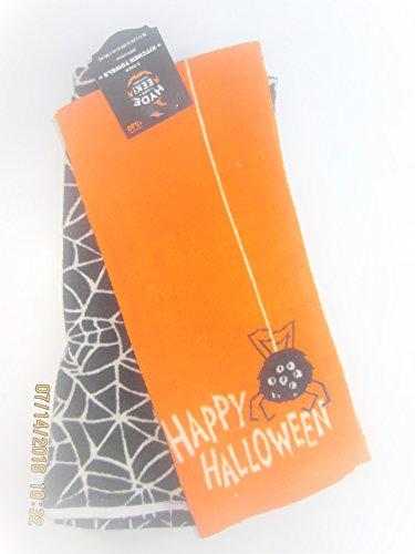 Hyde and Eek 2 piece set Halloween kitchen towels 100 cotton