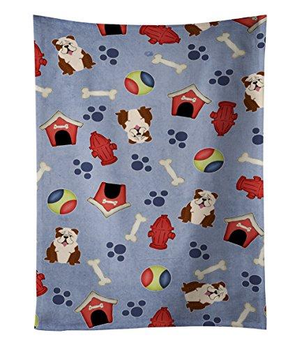 Carolines Treasures BB2734KTWL English Bulldog Brindle White Kitchen Towel 25 x 15 Multicolor