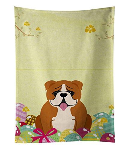 Carolines Treasures Easter Eggs English Bulldog Red White Kitchen Towel Multicolor 25 x 15