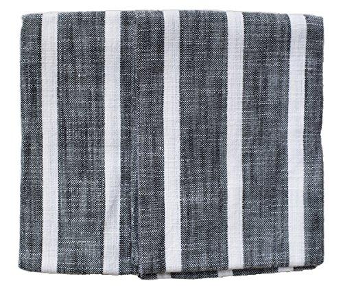 Rue Montmartre Dobby Stripes BlackWhite Kitchen Towels Set of 2 20 x 28 51cm x 71cm