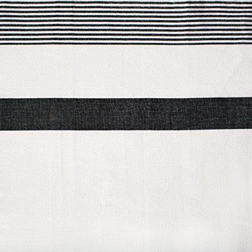C F Enterprises Striped Kitchen Towel One Size Black