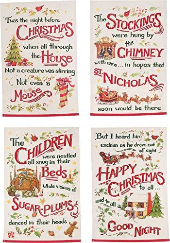 Kay Dee Designs Night Before Christmas Printed Tea Towels Set of 4