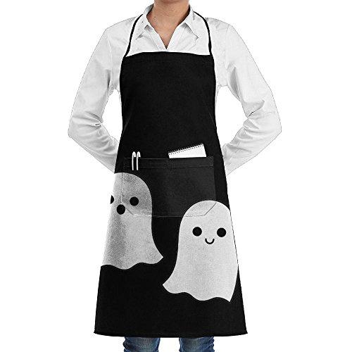 Wyfcxc Cute Ghost Designer Chef Aprons Kitchenrn Studio Aprons Sewing Pocket