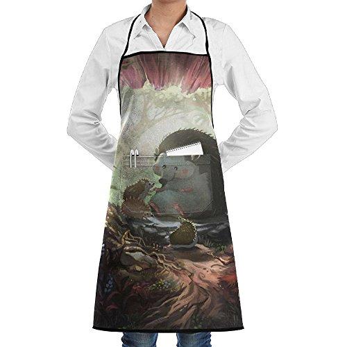 Wyfcxc Hedgehog Animal Designer Chef Aprons Adjustable Plus Size Bibrn Customized Aprons Sewing Pocket