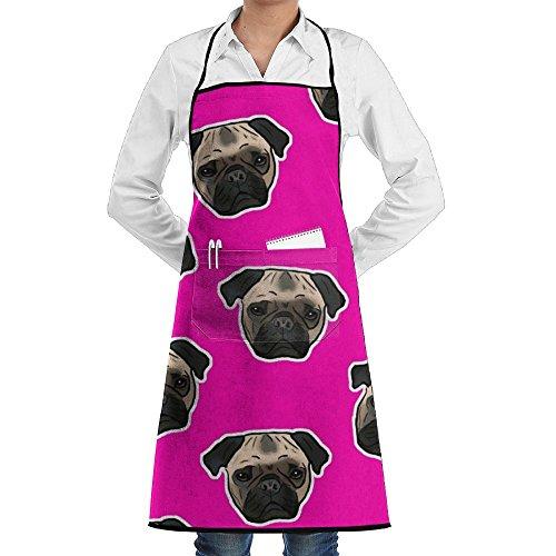Wyfcxc Pug Dog Designer Chef Aprons Cookingrn Grill Aprons Sewing Pocket