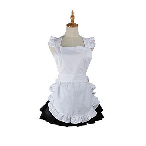 HOTER Lovely Waitress Handmade Kitchen Apron Home Cafe Shop Cooking Salon Apron Dress