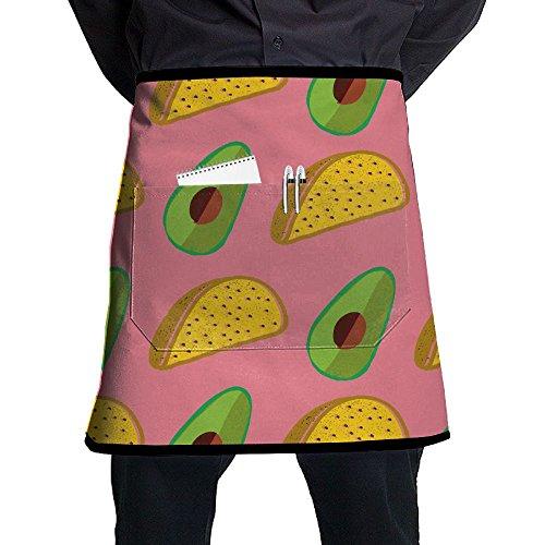 Avocado Taco Cute Waist Apron Restaurant Servers Half Aprons Kitchen Waist Apron