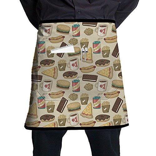 Fast Food Cute Waist Aprons Half Apron Baker