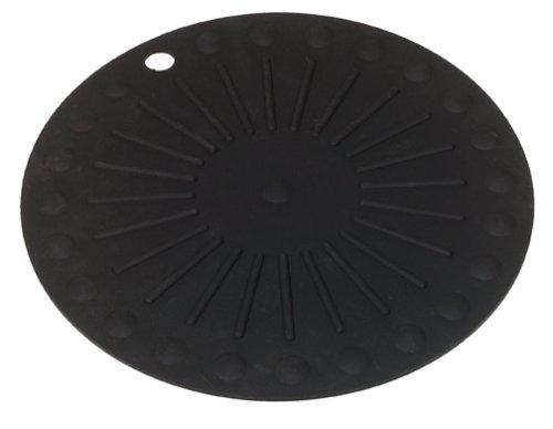 Round HotSpot Silicone Trivet Black