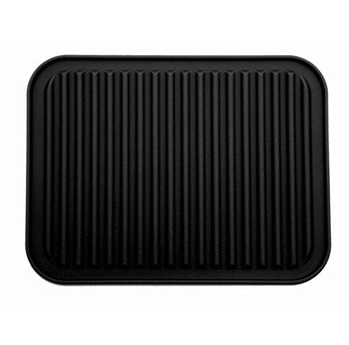 TIAMALL 9 x 12 Multipurpose Silicone Pot Holder Hot Pads Trivets Pot HoldersBlack