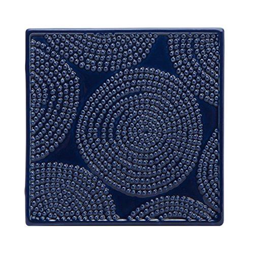 CR Gibson QT-14118 Art of Cooking Ceramic Trivet Blue