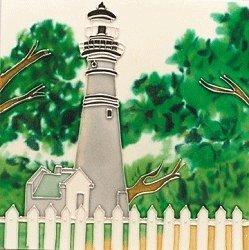 Key West Florida Lighthouse Decorative Wall Art Tile Ceramic Trivet 8x8