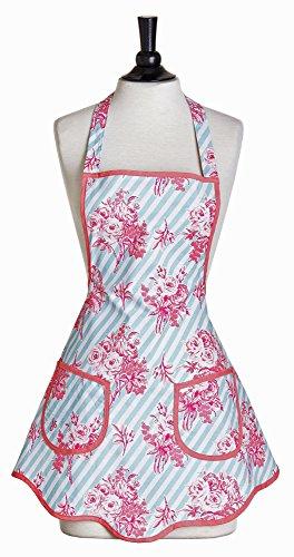 Floral Stripe Ava Designers Apron by Jessie Steele