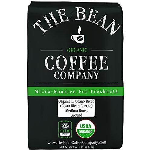 The Bean Coffee Company Organic El Grano Ricco Costa Rican Classic Medium Roast Ground 5-Pound Bag