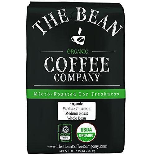 The Bean Coffee Company Organic Vanilla Cinnamon Medium Roast Whole Bean 5-Pound Bag