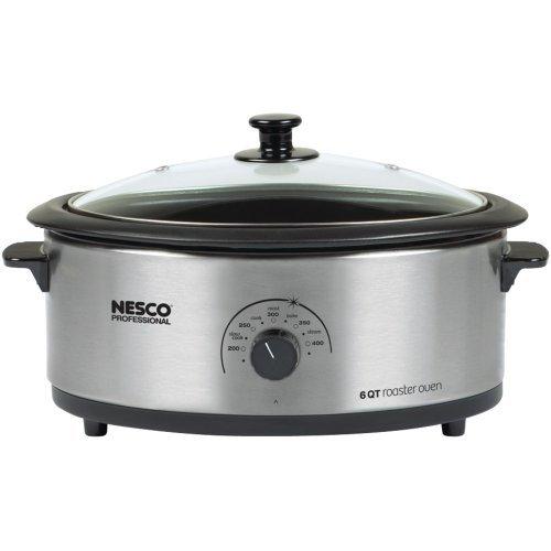 NESCO 4816-25-30 6-Quart Nonstick Roaster Oven Stainless Steel electronic consumer