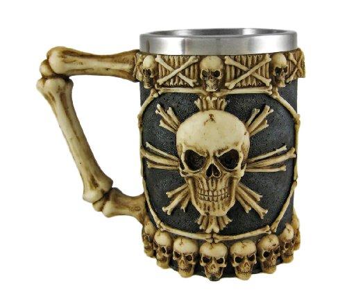 Cool Ossuary Skull Beer Stein Tankard Skulls