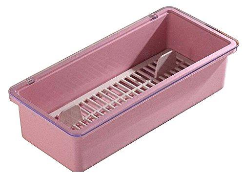 Pink Useful Chopsticks Box Flatware Storage Box Cutlery Organizer