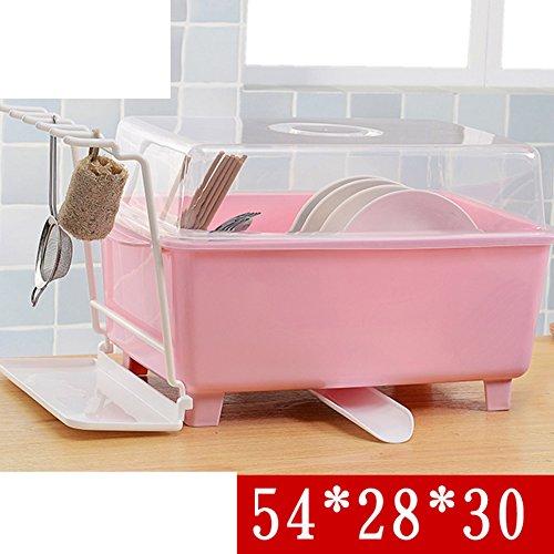 Drain the sink dish rack Plastic covered kitchen tableware cutlery storage box B