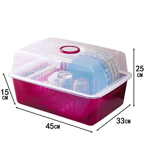 Kitchen cupboard plastic drain bowl Serve tea with chopsticks and cutlery storage box B
