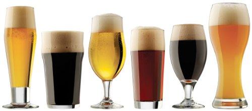 Libbey Craft Brew Sampler 6-piece Beer Glasses Set, Clear