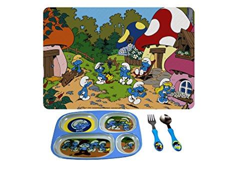 Kids Dinnerware Set - Various Design Smurf