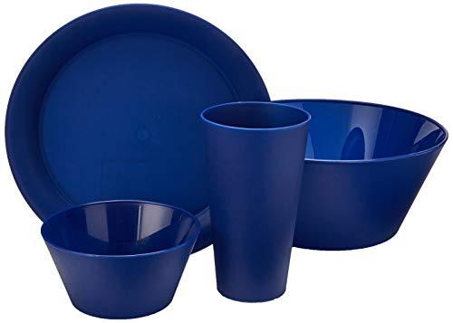 CreativeWare RM-CH623NY CH623NY 13 Piece My First DormApartment Plastic Dish Set Navy