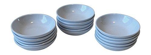 Melamine Plastic Sauce Dishes 1 oz 2-34 White Set of 15