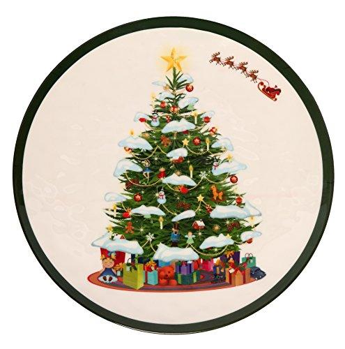 Melange 6-Piece 100 Melamine Dinner Plate Set Christmas Tree Collection   Shatter-Proof and Chip-Resistant Melamine Dinner Plates