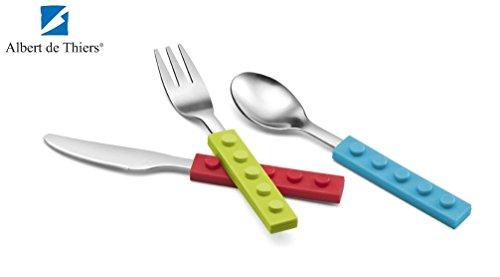 Albert De Thiers Childs Kids 3 Piece Cutlery Set - Ludo Brick