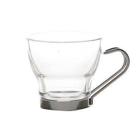 Set of 4 Bormioli Covetro Fine Italian Glass Espresso Cups