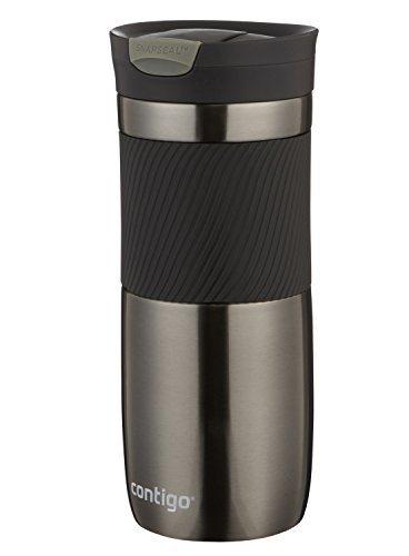 Contigo SnapSeal Vacuum-Insulated Stainless Steel Travel Mug 16-Ounce Gunmetal
