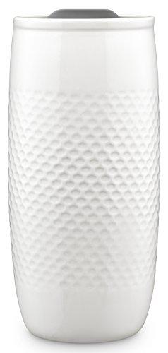 Ello Mesa Double Wall BPA-Free Ceramic Travel Mug with Lid Grey 14 oz