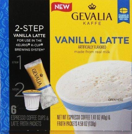 Gevalia Vanilla Latte Cup 6 Ct Pack of 18