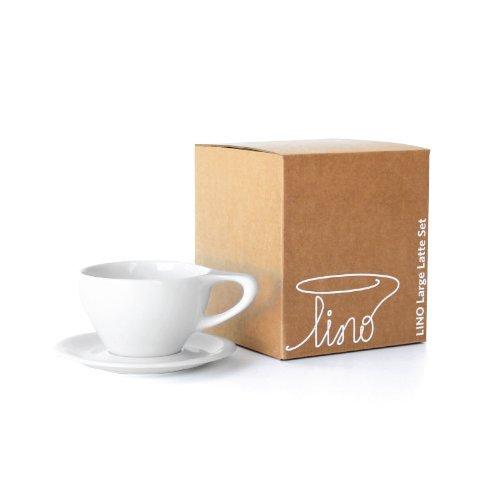 LINO 12 oz Latte Cup Saucer Set of 2