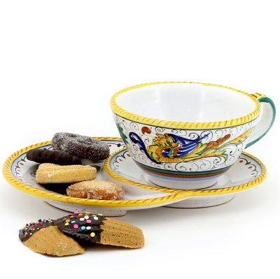 RAFFAELLESCO Caffe-latte cup with croissant saucer 1204-RAF