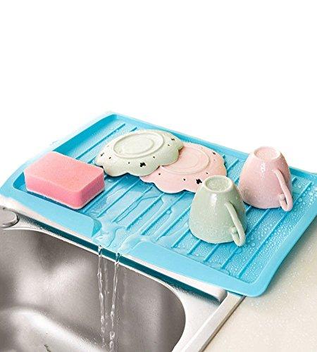 Dish Drying Racks Wall Mounted Drain Board for Home Kitchen Countertop Sink Draining Dish Mats