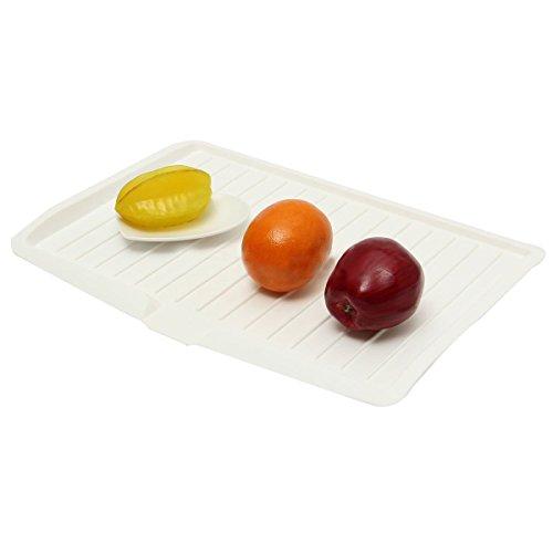 Vivian Dish Drainer Board Plastic Kitchen Drying Board White