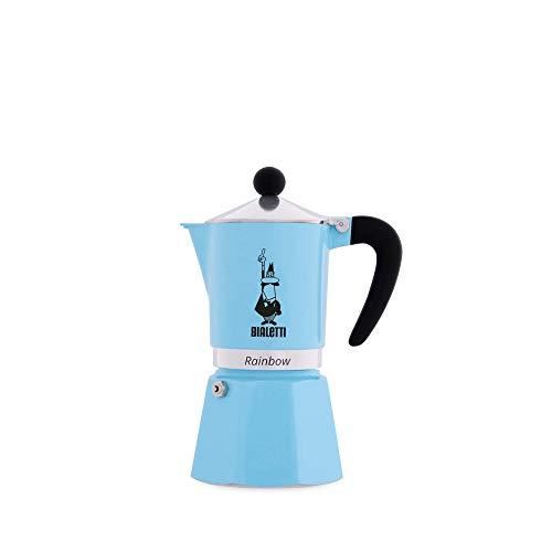 Bialetti 5042 Rainbow Espresso Maker Light Blue