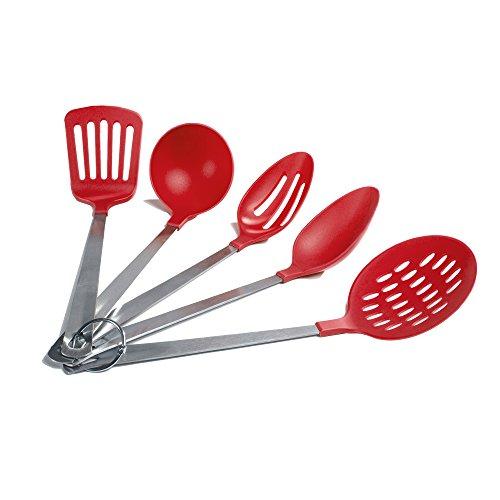 Cooks Corner 5-Piece Kitchen Utensil Set Red