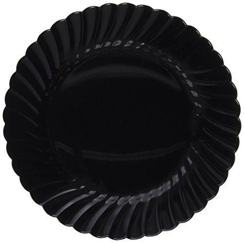 WNA 18 Count Classicware Plastic Fluted Plate 75 Black