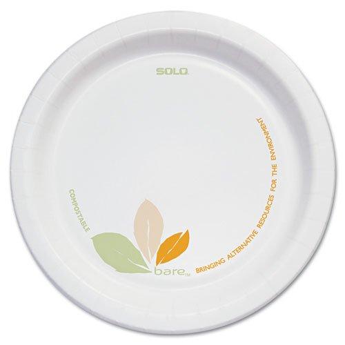 SOLO Cup Company Bare Paper Dinnerware 6 Plate GreenTan - Includes 500 plates