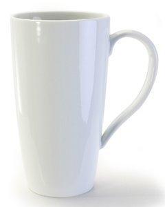 BIA Cordon Bleu White Porcelain 17 ounce Latte Mug - Set of 4