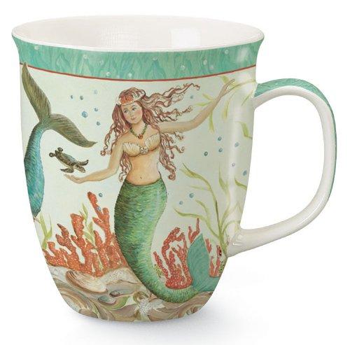 Coastal Tropical Mermaid Coffee Latte Mug