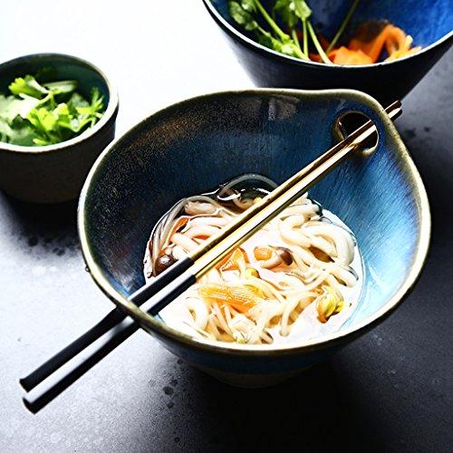 Creative Japanese Style Ramen Deep Soup Bowl Retro Ceramic Tableware Fruit Salad Bowl  Color  Gray