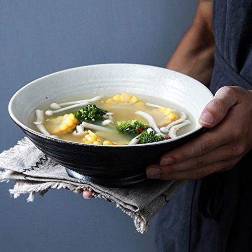 Japanese Style Ceramic Udon Noodles Bowl Creative Fruit Salad Bowl Retro Deep Soup Bowl