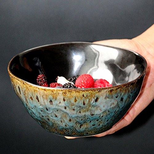 Japanese-style Creative Dark Blue Ceramic Tableware Personality Ramen Bowls Retro Large Capacity Deep Soup Bowl