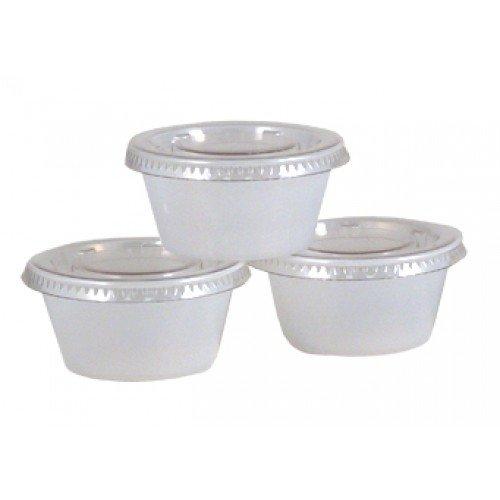2 OZ Portion Jello Shot Plastic Cups with Lids TranslucentClear 200 Pcs Disposable