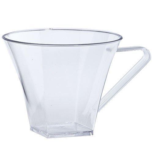 Lillian Tablesettings 8-Piece Coffee Mugs Set 8-Ounce Clear